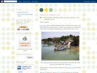 Samui info and weather blog