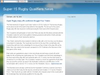 Super 15 Rugby Qualifiers News