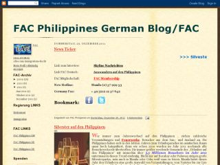 FAC Philippines German Blog