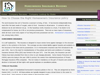 Home Owners Insurance Reviews
