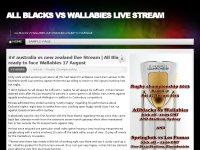 All Blacks vs Wallabies Live Stream
