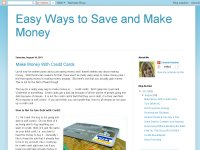 Easy Ways to Save and Make Money