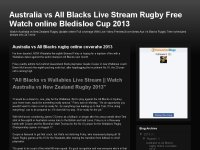 Australia vs All Blacks Live Stream Rugby Free