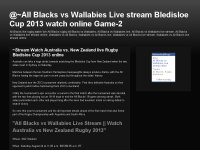 All Blacks vs Wallabies Live stream Bledisloe Cup