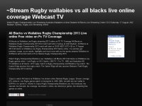 Stream Rugby wallabies vs all blacks live online c