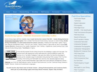 Scuba Diving Cyprus - Padi 5 Star Instructor Development Centre