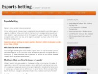 Dota 2, LoL & Starcraft2 online Esports betting