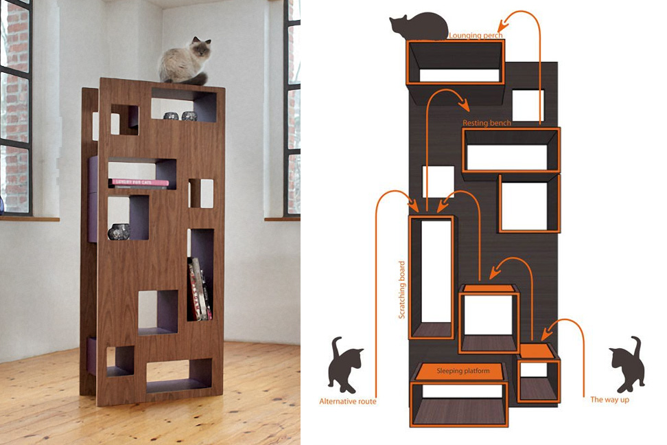Creative ideas that will keep your cat happy and in good shape blogs avenue - Modern cat tree ikea ...