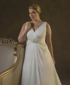 large bust wedding dress