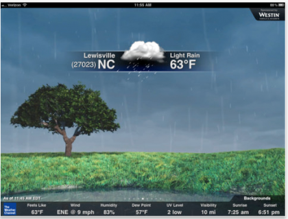The Weather Channel iPad