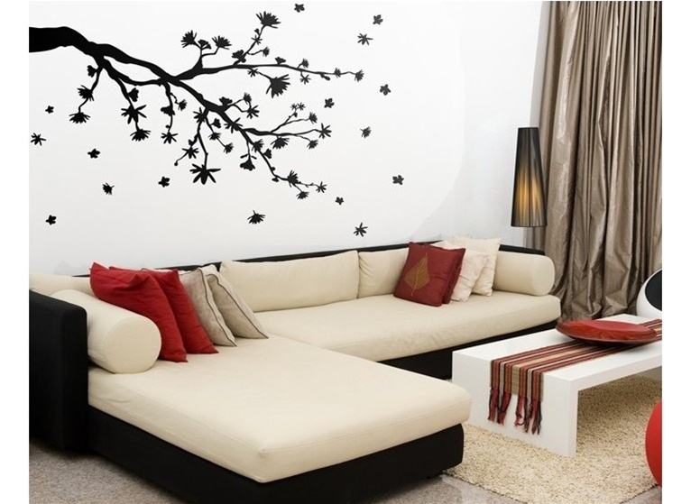 Bold Design Wall Decals : Wall design decals grasscloth wallpaper