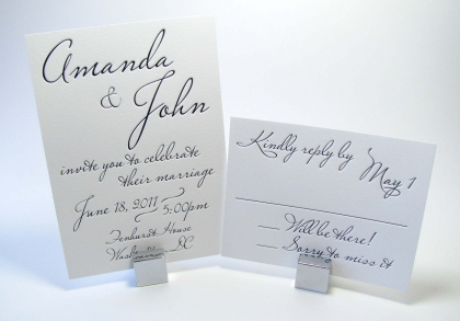 wedding invitations with handwriting incorporated