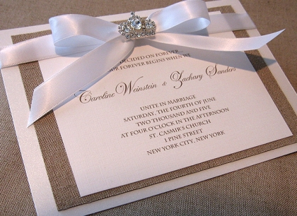 jewels on wedding invitations