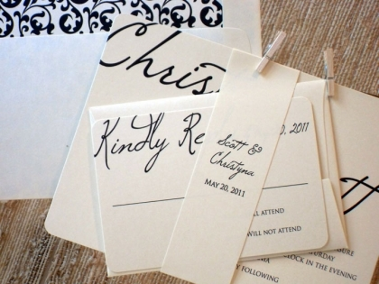simple and chic wedding invitations