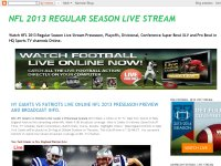 NFL 2013 REGULAR SEASON LIVE STREAM
