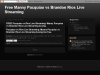 Free Manny Pacquiao vs Brandon Rios Live Streaming