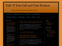 Talk 'N Text Call and Text Promos