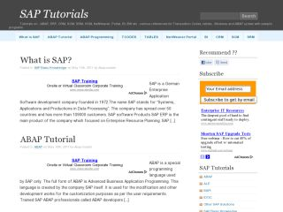 SAP Tutorial
