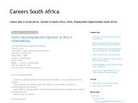 Careers South Africa