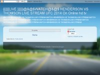 {{{{{LIVE }}}}}@&@$WATCH@&@$ HENDERSON VS THOMSON