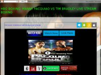 HBO BOXING: MANNY PACQUIAO VS TIM BRADLEY LIVE STREAM BOXING
