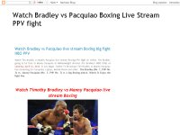 Watch Bradley vs Pacquiao Boxing Live Stream PPV fight