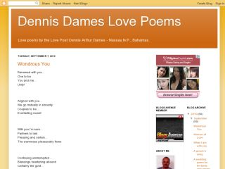 Love poetry by the Love Poet Dennis Arthur Dames..