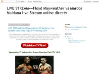 LIVE STREAM==Mayweather vs Maidana live Stream