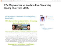 PPV:Mayweather vs Maidana Live Streaming Boxing Showtime 2014.