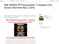 WBC BOXING PPV:Mayweather vs Maidana Live Stream Showtime May 3,2014.