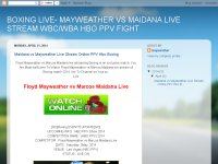 BOXING LIVE- MAYWEATHER VS MAIDANA LIVE STREAM WBC/WBA HBO PPV FIGHT
