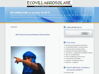 INFORMAZIONE IN RETE - INFORMATION ON WEB