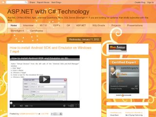 ASP.NET with C# Technology