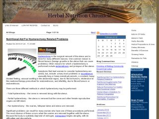Herbal Nutrition Chronicle