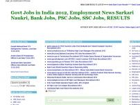 India Govt Jobs Exam Results