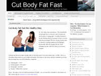 Burning Body Fat Fast Through Eating Right