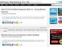 Affiliate Marketing For All