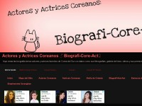 Actores y Actrices Coreanos ♂ Biografí-Core-Act♀