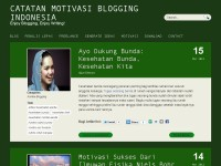 Catatan Motivasi Blogging Indonesia