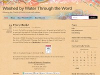 Washed by Water Through the Word