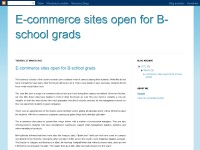 E-commerce sites open for B-school grads