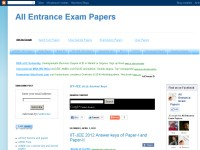 All Entrance Exam Paper