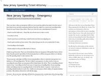 New Jersey Speeding Ticket Attorney