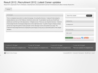 Result 2012 | Recruitment 2012 | Latest Career updates