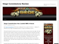 Siege Commissions Review