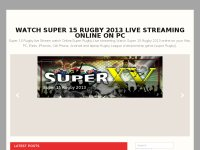 Watch Super 15 Rugby 2013 Live Streaming online