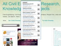 All Civil Engineering Research, Knowledge of all Projects
