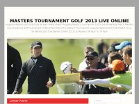 Masters Tournament Golf 2013 Live online TV