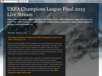 UEFA Champions League Final 2013 Live Stream