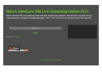 Watch AdvoCare 500 Live Streaming Online 2013